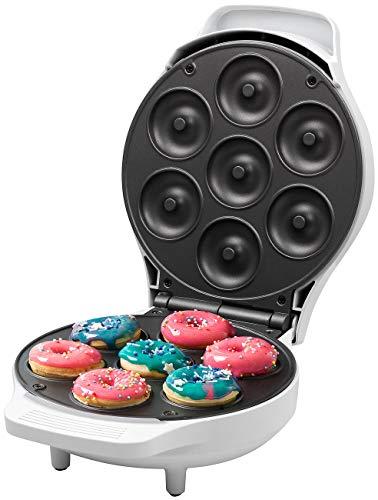 Rosenstein & Söhne Küchenhelfer: Mini-Donut-Maker, antihaftbeschichtet, 1.000 Watt (Donut-Waffeleisen)