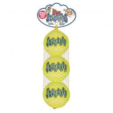 Kong Air Tennisbälle mit Quietscher, XS, 3 Stück