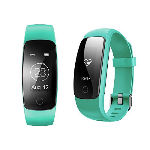 COOSA Fitness Tracker Fitness Armband (Id107 Plus) Intelligente Oled Voller Touch Screen Fitnessarmband Wasserdicht Ip67 Aktivitätstracker Schrittzähler Kalorienzähler