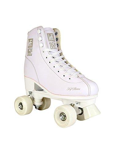 KRF Kinder Rollschuhe, Roller Figure Quad School PPH, White, 34, 0016914