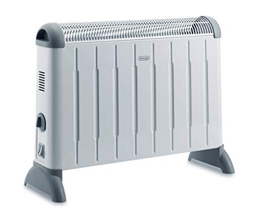 De'Longhi Konvektor HCM2030 - Heizgerät mit 3 Heizstufen für Räume bis 60 m³, Sicherheitsthermostat, Frostschutzfunktion, Raumthermostat, grau