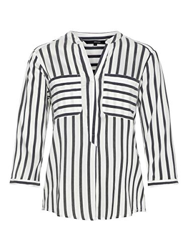 VERO MODA Female Hemd mit 3/4 Ärmeln Gestreiftes LSnow White 1