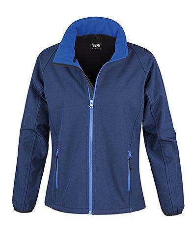 Result Damen R231F Bedruckbare Softshell-Jacke, Marineblau/Königsblau, Large/Size 14