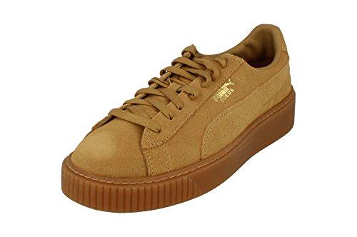 PUMA Suede Platform Damen Sneaker Oatmeal-Gold UK 3_Adults_FR 35.5