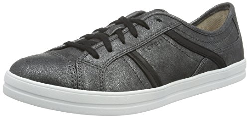 ESPRIT Damen Mega Lace Up Sneakers, Schwarz (001 Black), 39