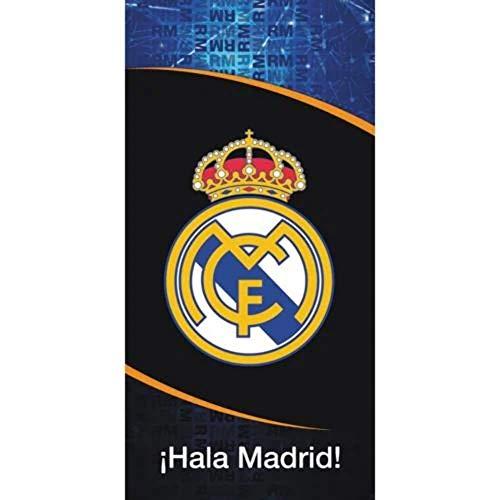 Real Madrid Badetuch schwarz Real Duschtuch Saunatuch Fan Handtuch 140x70cm