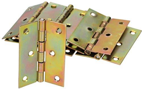 KOTARBAU® Möbelscharniere 60 x 45 mm 25 St. Gerollte Scharniere Alle Größen Tischband Türband Möbelband Verzinkt Türscharniere Scharnier Kistenband Schrankscharniere