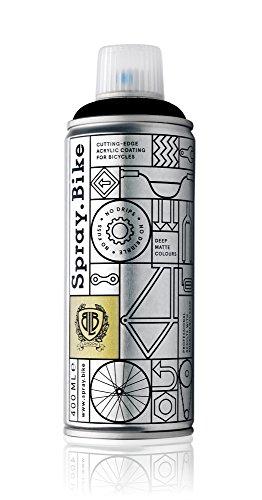 Fahrrad Lackspray in versch. Farben - KEINE GRUNDIERUNG notwendig - Acryllack / Lack Pulverbeschichtung Spray in 400 ml Spraydose, Matt
