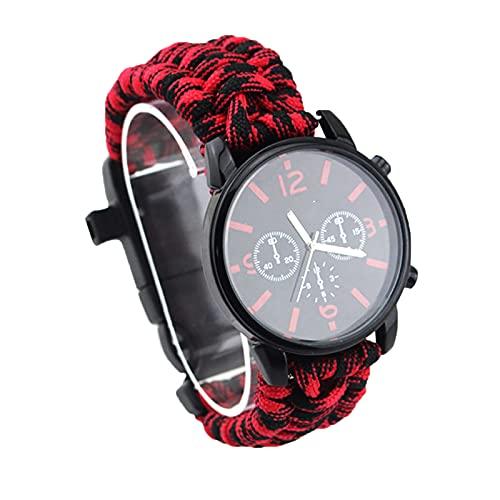 Herren Sport Armbanduhr, Outdoor Equipment Survival Watch, High Decibel Survival Pfeife, wasserdichte Armbanduhr, Weihnachten, Geburtstag, Wris E