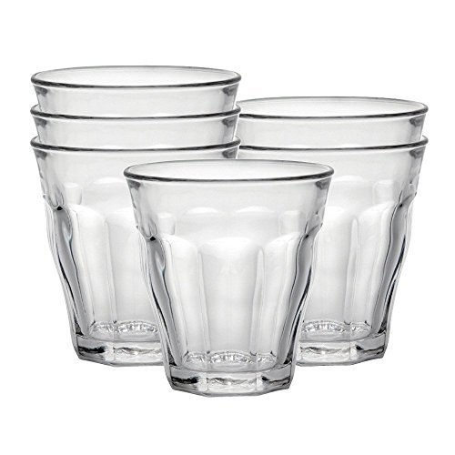 Duralex 1026AB06C0111 Picardie Six Trinkglas, Wasserglas, Saftglas, 220ml, Glas, transparent, 6 Stück
