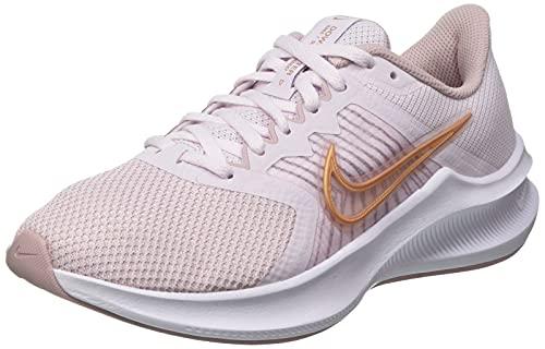 Nike Wmns Downshifter 11, Damen Laufschuhe, Light Violet / Champagne / White / Metallic Red Bronze, 37.5 EU