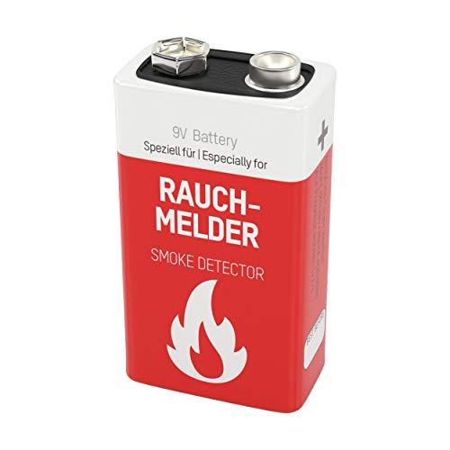 ANSMANN Lithium longlife Rauchmelder 9V Block Batterien - Premium Qualität für höhere Leistung, 9V Batterie ideal für Feuermelder, Bewegungsmelder, Alarmanlagen & Kohlenmonoxid Warnmelder