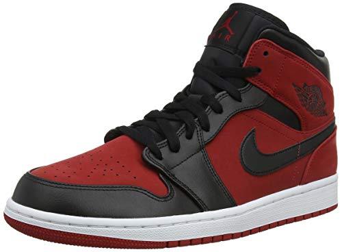 Nike Herren Air Jordan 1 Mid Basketballschuhe, Rot (Gym Red/Black/White 610), 42 EU