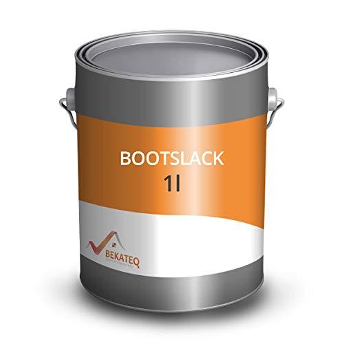 BEKATEQ BE-400 Premium Bootslack farblos seidenmatt, 1 Liter I Klarlack für Holz, Schiffe, Möbel I hochbelastbarer & wetterbeständiger Parkettlack, Treppenlack, Yachtlack I für innen & außen