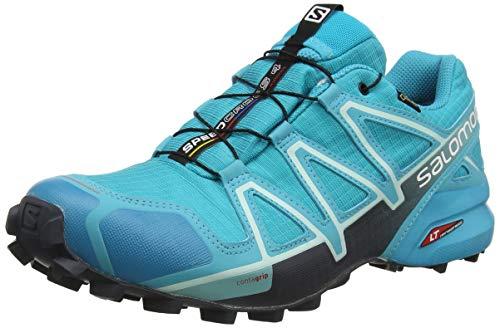 Salomon Speedcross 4 Gore-Tex (wasserdicht) Damen Trailrunning-Schuhe, Blau (Bluebird/Icy Morn/Ebony), 41 ⅓ EU