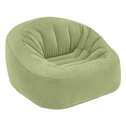 Intex Sessel aufblasbar Sitzsack Beanless Bag Club in Grün, 124x 119x 76cm (68576)