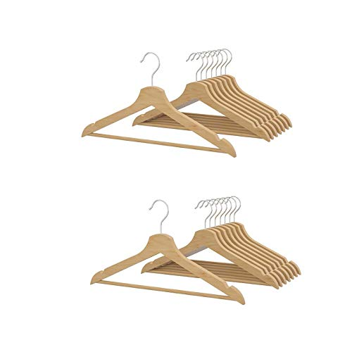2 XIKEA BUMERANG - Curved clothes hanger natural / 8 pack