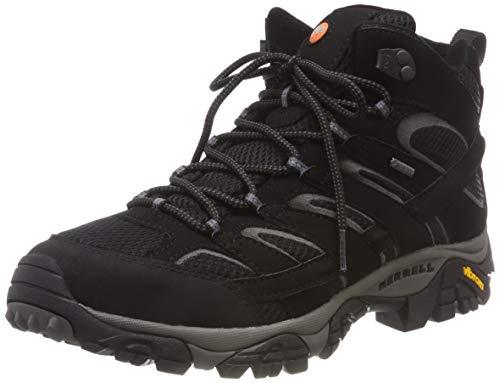 Merrell Damen Moab 2 Mid Gore-tex Trekking- & Wanderstiefel, Schwarz (Black Black), 41 EU