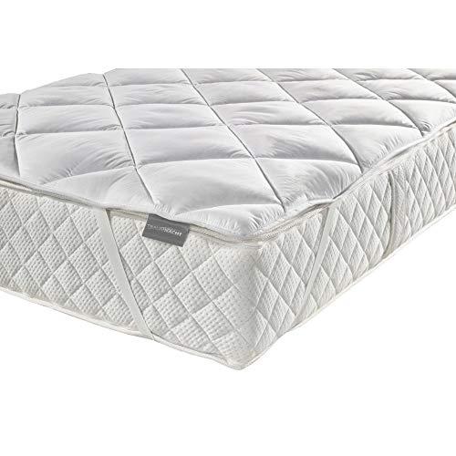 Traumnacht Komfort Microfaser Matratzenschoner für Matratzen bis 30 cm, Öko-Tex zertifizierte Matratzen-Auflage mit 4 Eckgummis 120x200 cm, auch für Boxspring-Betten und Wasser-Betten geeignet