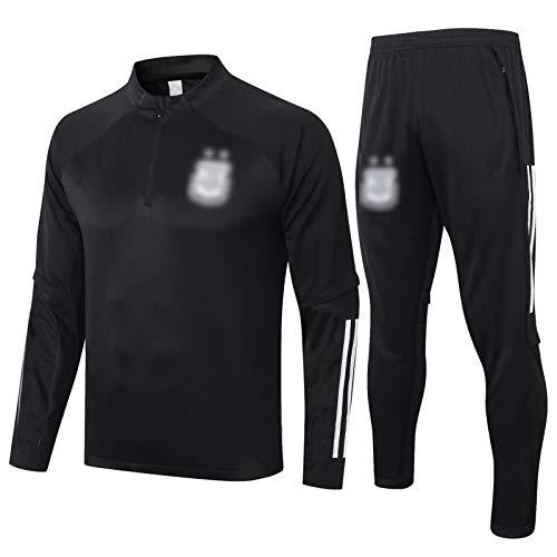 THUK 20-21 Argentinien City Football Training Anzug, langärmelige Sportbekleidung Trainingsanzug Set, Outdoor Sports Herren Langgezeichnete Sportbekleidung (S-XXL) XXL