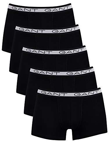 GANT Herren Basic Trunk 5-Pack Boxershorts, Black, L