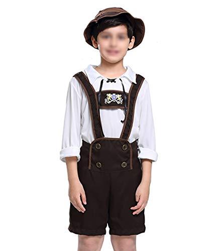 CoolChange Kinder Kostüm Tracht für Jungs I Bayrische Lederhose für Buben I Größe: 140