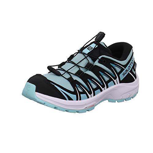 Salomon Kinder XA PRO 3D, Schuhe für Trail Running und Outdoor-Aktivitäten, ClimaSalomon Waterproof Hellblau/Schwarz (Pastel Turquoise/Black/Tanager Turquoise), 36 EU