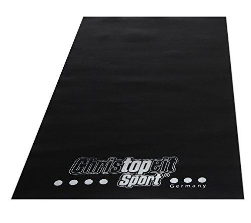 Christopeit Bodenschutzmatte, schwarz, 120 x 60 x 0.3 cm, 1398
