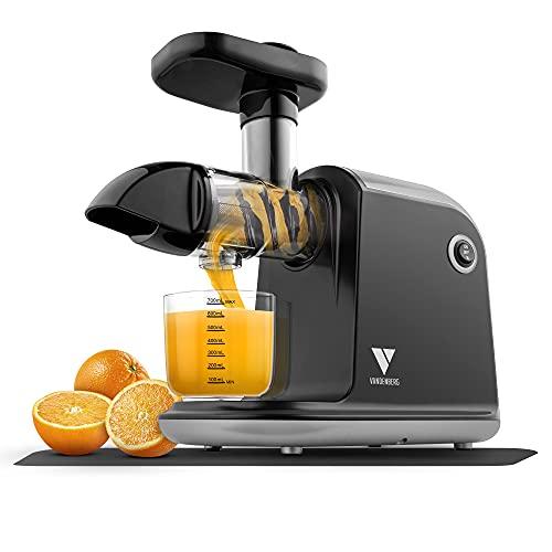 Vandenberg [DAS ORIGINAL] - Slow Juicer - Leiser Entsafter für alle Gemüse und Obst Sorten - [150 W] Vitaminschonende Saftpresse elektrisch mit Umkehr Funktion Inkl. Reinigungsbürste - BPA Frei