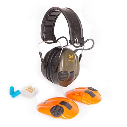 3M Peltor SportTac Elektronischer Gehörschutz   Auswechselbare Farbige Muscheln   Inklusive Ohrenstöpsel Extra Gehörschutz Für Ihre/Ihren Begleiter In