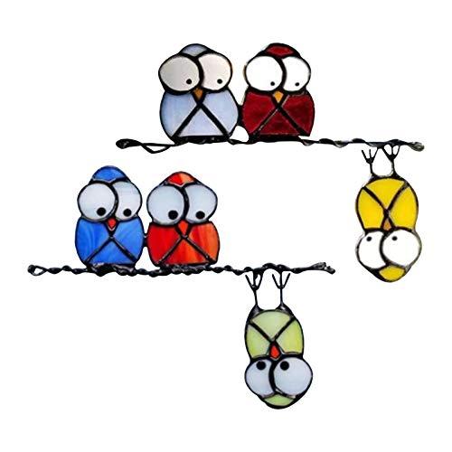 cypressen Fenster-Aufkleber Fensterbild Kolibri Fensterbild Frühling Vogel Selbstklebend Wiederablösbar Wiederverwendbare Vögel Fensteraufkleber Wohnzimmer Schlafzimmer Badezimmer Wanddeko