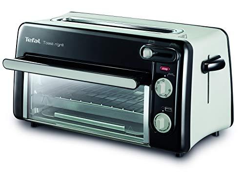 Tefal Toast n' Grill TL6008   2 in 1 Toaster und Mini-Ofen   Sehr energieeffizient und schnell   1300 Watt   Schwarz/ Alu matt