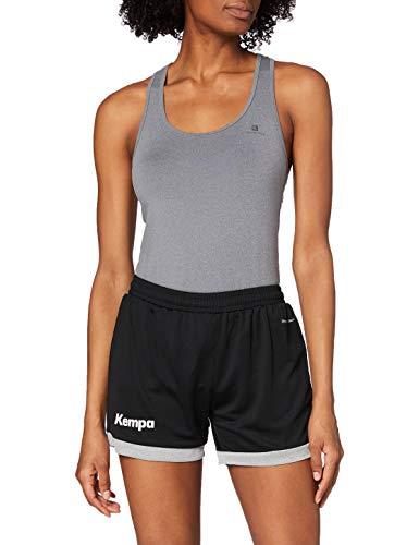 Kempa Damen Core 2.0 Shorts , Schwarz (Black/Dark Grey Melange) , M