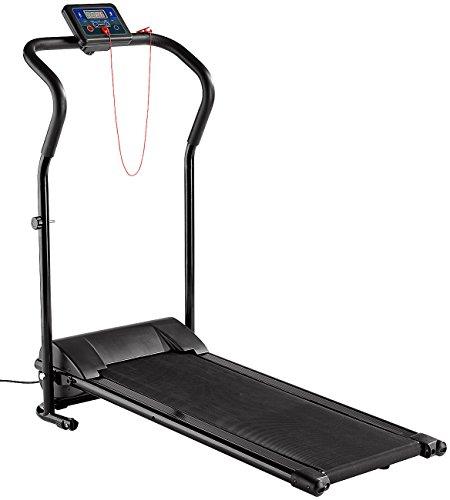 Newgen Medicals Mini Laufband: Laufband LF-203.Mini mit 3 Sport-Programmen, zusammenklappbar (Laufband klappbar)