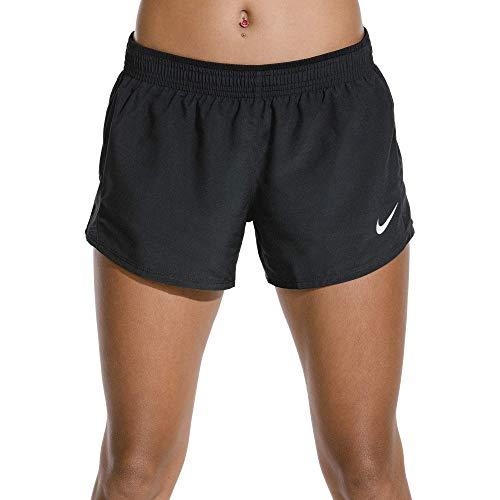 Nike Damen W NK 10K Shorts, Schwarz (Black/Wolf Grey), M