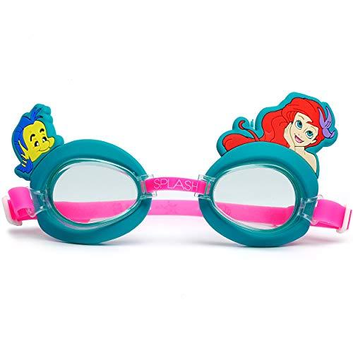 alles-meine.de GmbH 3D Effekt _ Kinder - Schwimmbrille / Chlorbrille / Taucherbrille - Disney - Princess Arielle - von 2 bis 12 Jahre - verstellbar / wasserdicht & Anti Beschlag ..