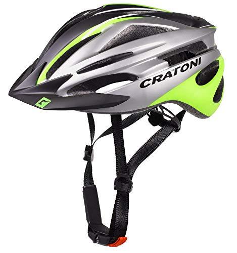 Cratoni Pacer+ Fahrradhelm (schwarz anthrazit Lime, L-XL (58-62 cm))