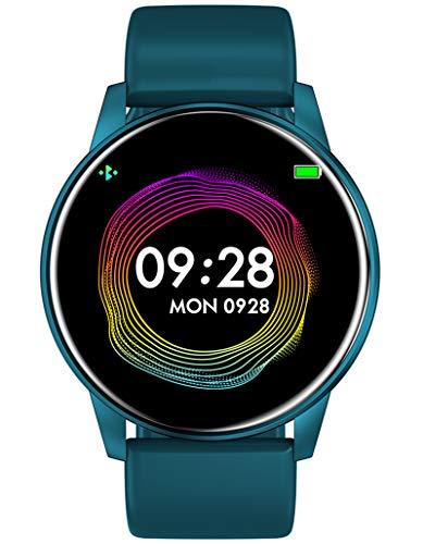 Fitness Armbanduhr Frauen Blutdruck Pulsmesser Sport Kalorienzähler Schrittzähler Wasserdicht Männer Smartwatch IOS Android Damen Uhr Blau
