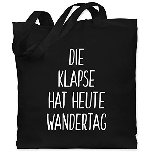 Shirtracer Festival Turnbeutel - Die Klapse hat heute Wandertag - Unisize - Schwarz - festival jutebeutel - WM101 - Stoffbeutel aus Baumwolle Jutebeutel lange Henkel