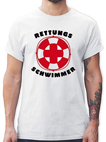Wassersport - Rettungsschwimmer - S - Weiß - Rettungsschwimmer t-Shirt Herren - L190 - Tshirt Herren und Männer T-Shirts