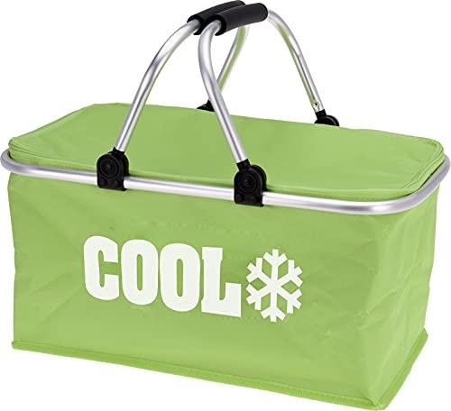 matrasa Kühltasche - Einkaufstasche - Einkaufskorb - Picknick Korb Kühlkorb Kühlbox 35 L grün