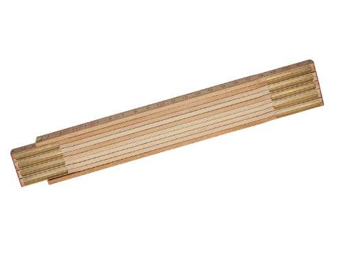 Stanley Gliedermassstab Holz Natur (Oberfläche witterungsbeständig und foliert, Messinggelenke) 0-35-455