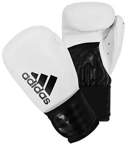 adidas Boxing Gloves Men Women Kids Sparring Training Hybrid 100 6oz 8oz 10oz 12oz 14oz 16oz Boxhandschuhe, weiß, 454 g