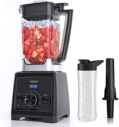 Standmixer Smoothie Maker, 2000W, 2L Ultra-Leistungsstarker Smoothie Blender, Schleifer, Eis-Zerkleinerungsmaschine, Mit 1 Trinkflasche, 32.000 U/min Professioneller Blender für die Küche