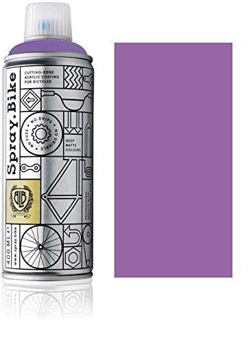 Fahrrad Lackspray in versch. Farben - Keine GRUNDIERUNG notwendig - Acryllack/Lack Spray in 400 ml Spraydose, Matt- und Klarlack Optik möglich (Quarzviolett Memphis, Matt)