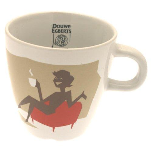 Douwe Egberts Design Tasse Kaffee Becher Kaffeetasse Rot Porzellan 250 ml