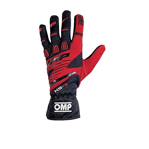 Omp OMPKK02743E060L Ks-3 Handschuhe My2018, Schwarz/Rot, Größe L