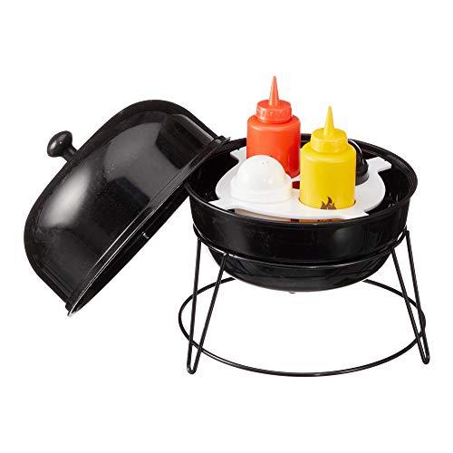 Cepewa Menagen Set Picknick Bank Grill Ketchup Senf Salz Pfeffer im 4er Set 20 x 25 cm