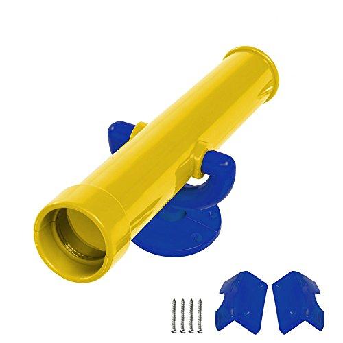 WICKEY Teleskop Fernrohr Kinderteleskop Fernglas, gelb