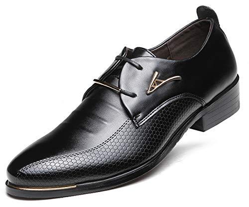 AARDIMI Herrenschuhe Herren Uniform Berufsschuhe Elegant Businessschuhe Lederschuhe Hochzeit Schuhe, 42 EU, Schwarz